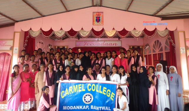 Bantwal: Carmel College holds service activity at Jeevadan, Gurpur