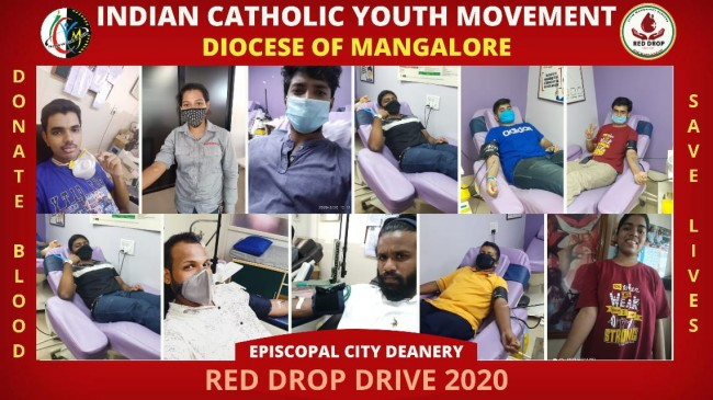 ICYM Mangalore diocese holds Red Drop Drive 2020